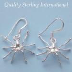Sterling Spider Earrings E026