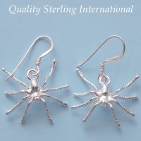 Sterling Spider Earrings E026